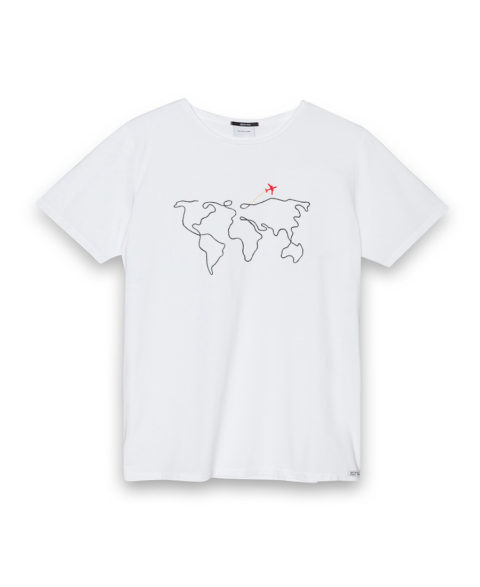 Camiseta hombre World Map