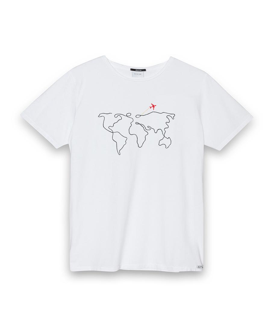 Camiseta hombre World Map